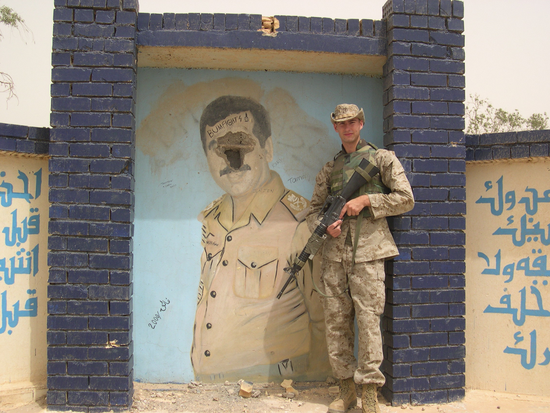 Former Marine Rutherford in Iraq